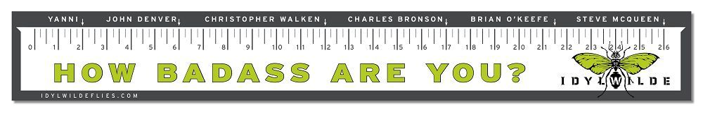 Idylwilde boat ruler 28 x4 in decals for Fish ruler sticker