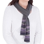 Colleen Striped Scarf Obsidian 1 Size