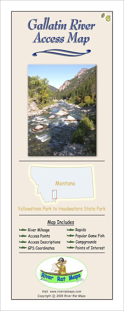 Gallatin river access map in maps for Gallatin river fishing report